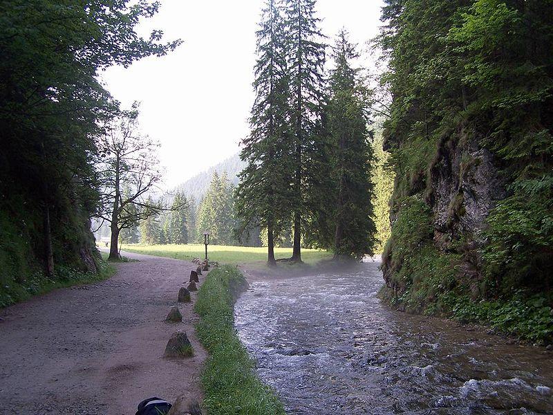 Początek Doliny Kościeliskiej - Brama Kantaka