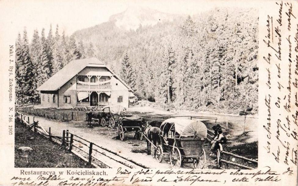 Stare Kościeliska w 1903 r. - na zdj. gospoda Zamoyskich z 1890 r.