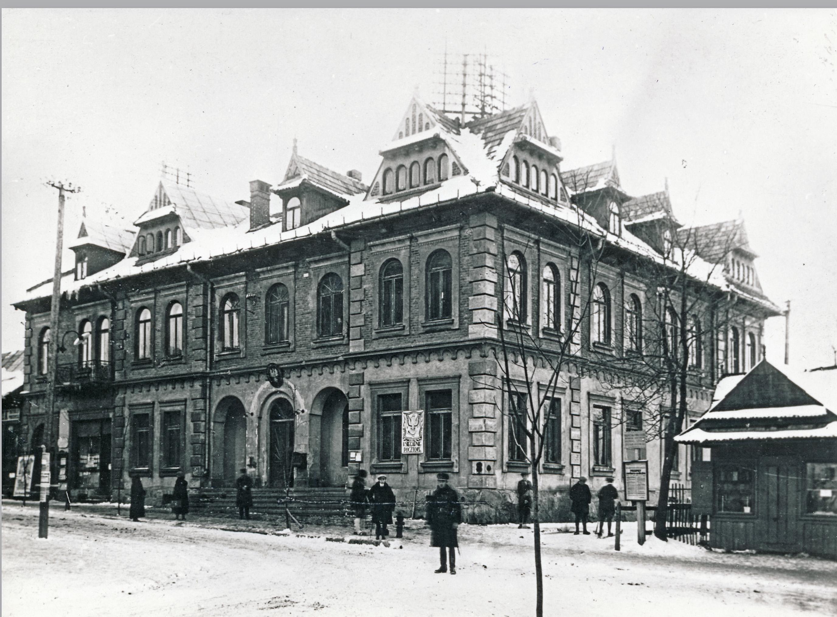 Pierwotny wygląd Urzędu Pocztowego, 1905 r.