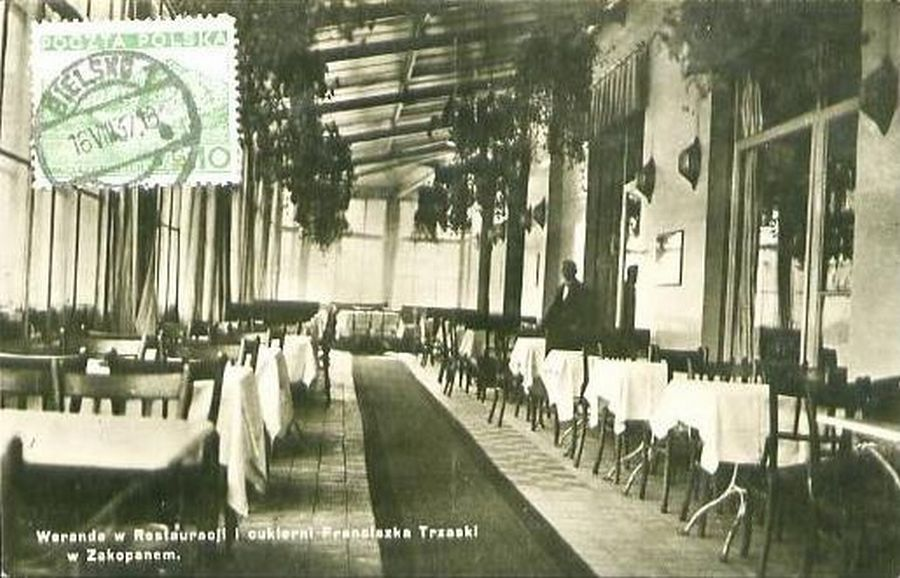 Przedwojenna restauracja 'Trzaski'