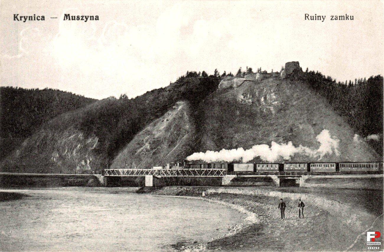 Jedna z odnóg Galicyjskiej Kolei Transwersalnej prowadziła przez Muszynę - ułatwiło to dojazd kuracjuszom do Krynicy