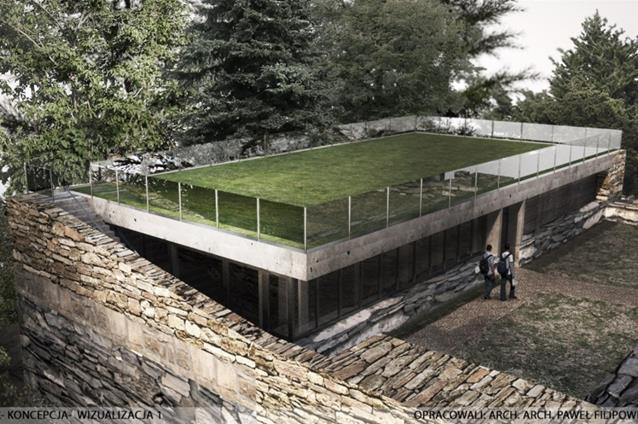 W planach rewitalizacji przewidziano budowę kawiarni/winiarni w miejsce dawnej rezydencji