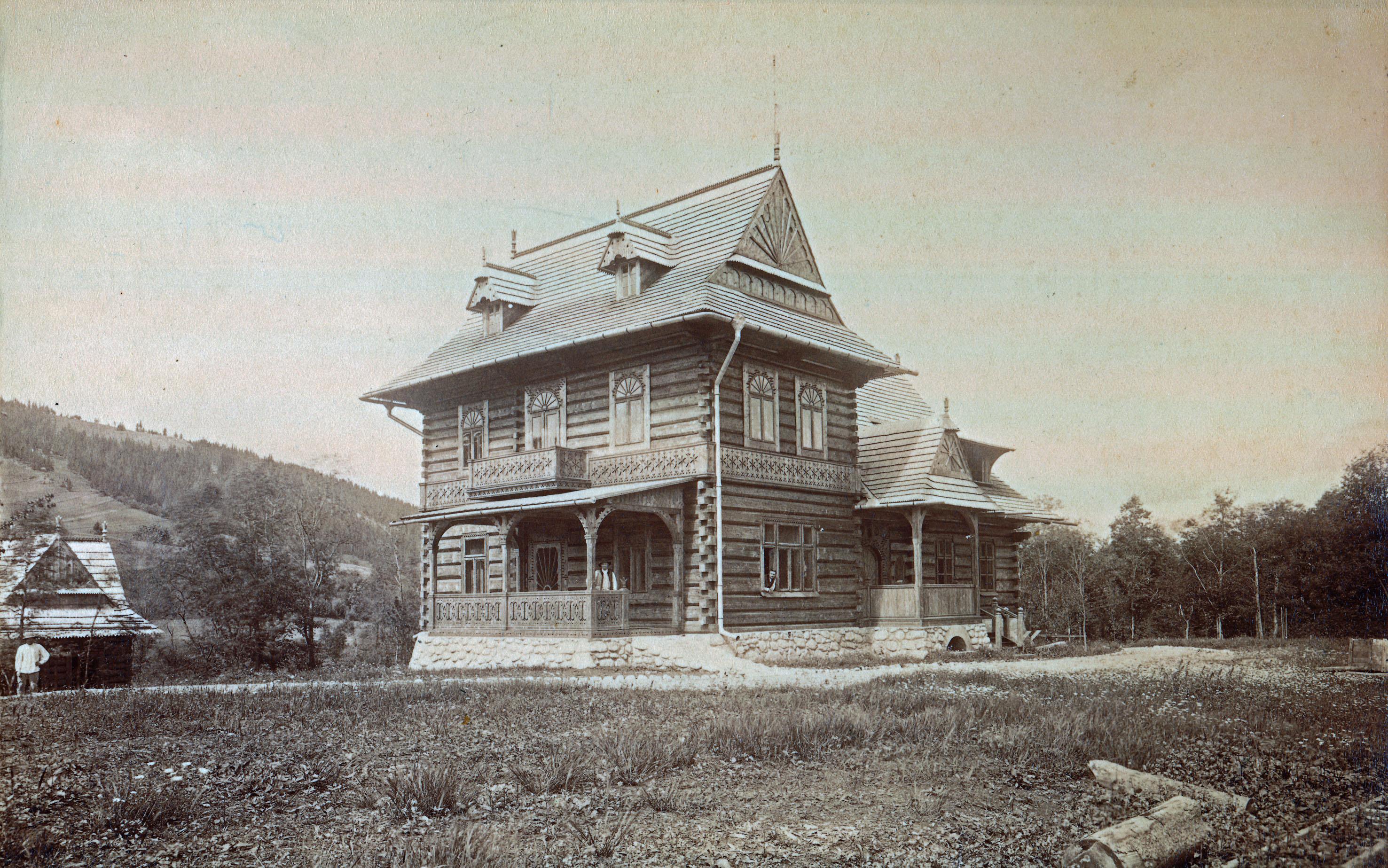1893 r. - oryginalny wygląd Willi 'Koliba'