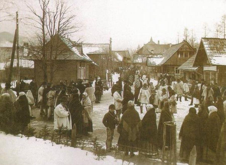 Nawsie w dzień targowy - pocz. XX w.