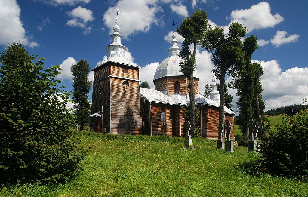 Dawna cerkiew św. Dymitra i cmentarz greckokatolicki.