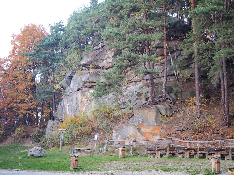 'Grunwald', nazwany tak w 500-lecie bitwy - największa skała w rezerwacie.