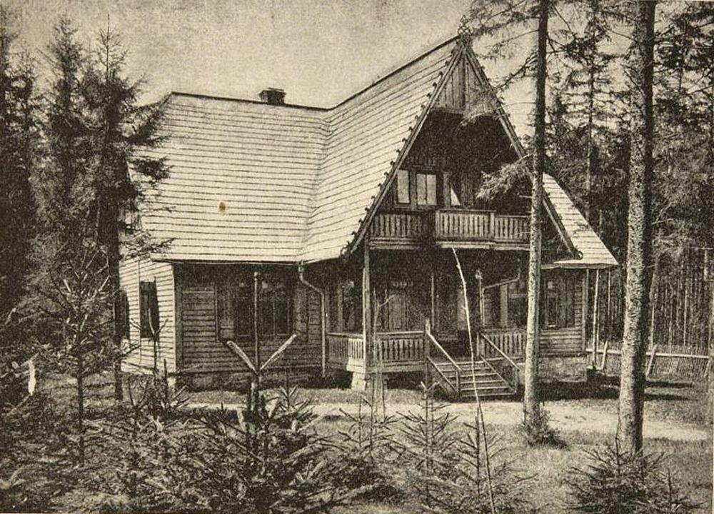 'Sienkiewiczówka' w 1900 r. - od tamtej pory przybyło jej trochę 'góralskich' zdobień