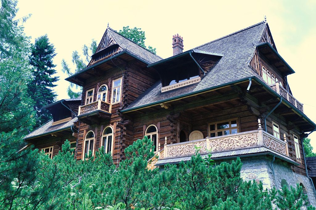 Dom 'Pod Jedlami' - niewątpliwie najpiękniejszy przykład stylu zakopiańskiego